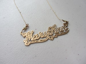 My 80s Name Plate Necklace