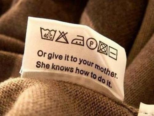 When It Comes to Laundry
